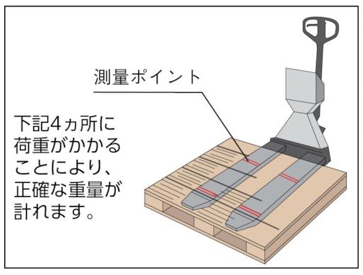 ハンドパレットスケールTHP-20-511SC-D仕様