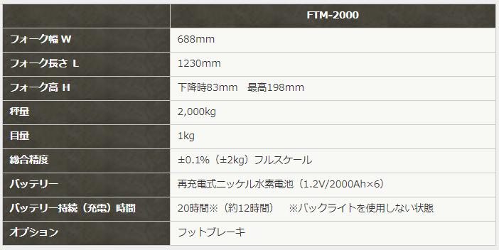フロアタートル・マーチ FTM-2000仕様