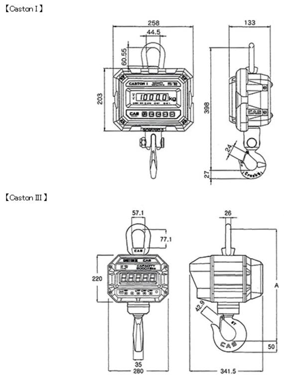 田中衡機のクレーンスケール図面