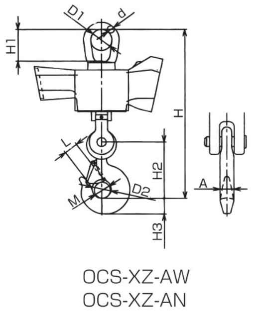 イーグルクランプのクレーンスケール図面