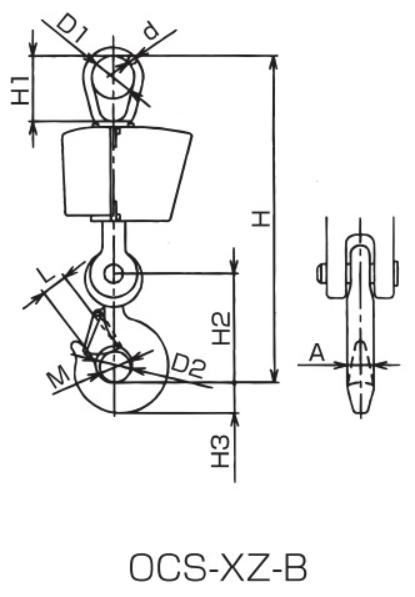 イーグルクランプのクレーンスケール図面2